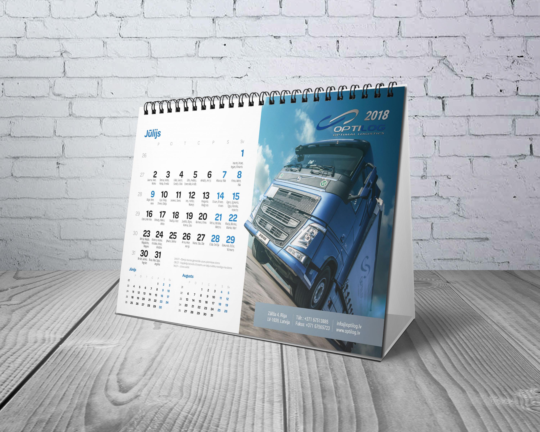 Galda kalendāri druka
