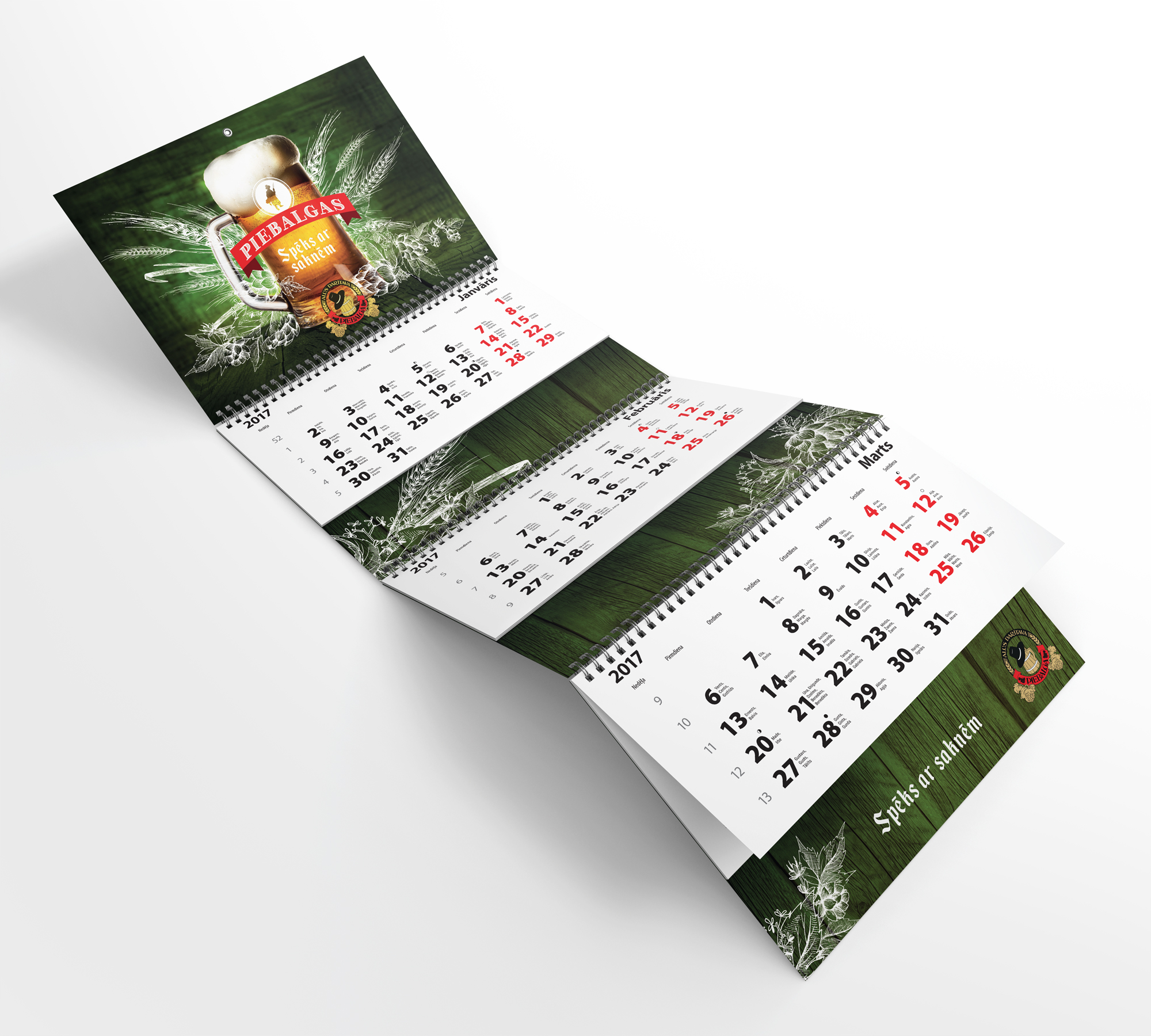 Kalendāru dizains