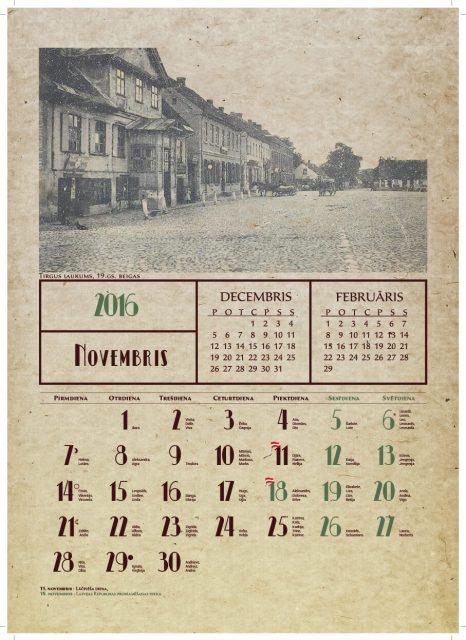 Sienas kalendāri izgatavošana sienas kalendāri Sienas kalendāri Dobeles muzejs kalendars 2016 flag2 466x640