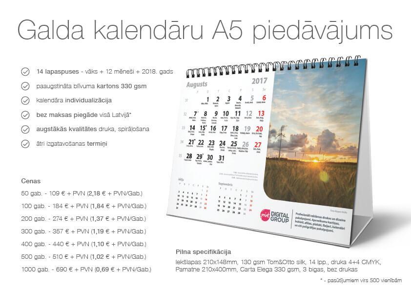 Galda kalendāri druka galda kalendāri Galda kalendāri Galda A5 promo edit
