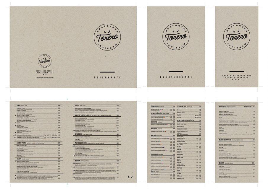 Ēdienkartes druka ēdienkartes druka Ēdienkartes druka Torero preview 906x640