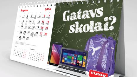 Galda kalendārs galda kalendāri Galda kalendāri elkor 2016 466x262