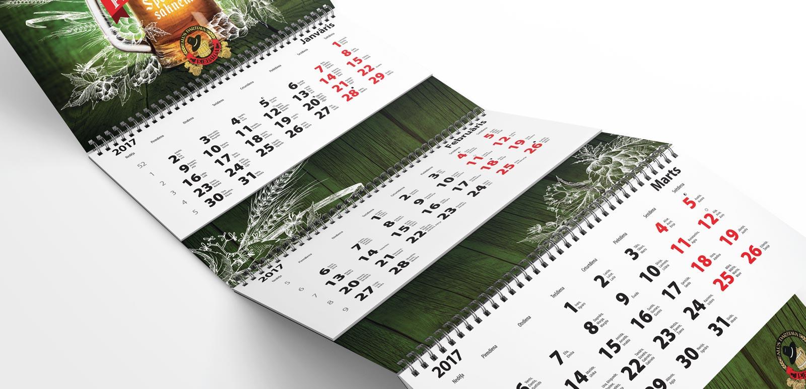 Kalendāru izgatavošana drukas pakalpojumi Drukas pakalpojumi Slide 01