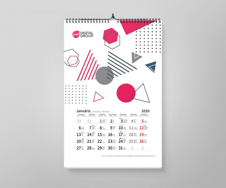 kalendārs 2020. gadam jau ražošanā Kalendārs 2021. gadam jau ražošanā Kalendars 2020 A3 preview 768x640