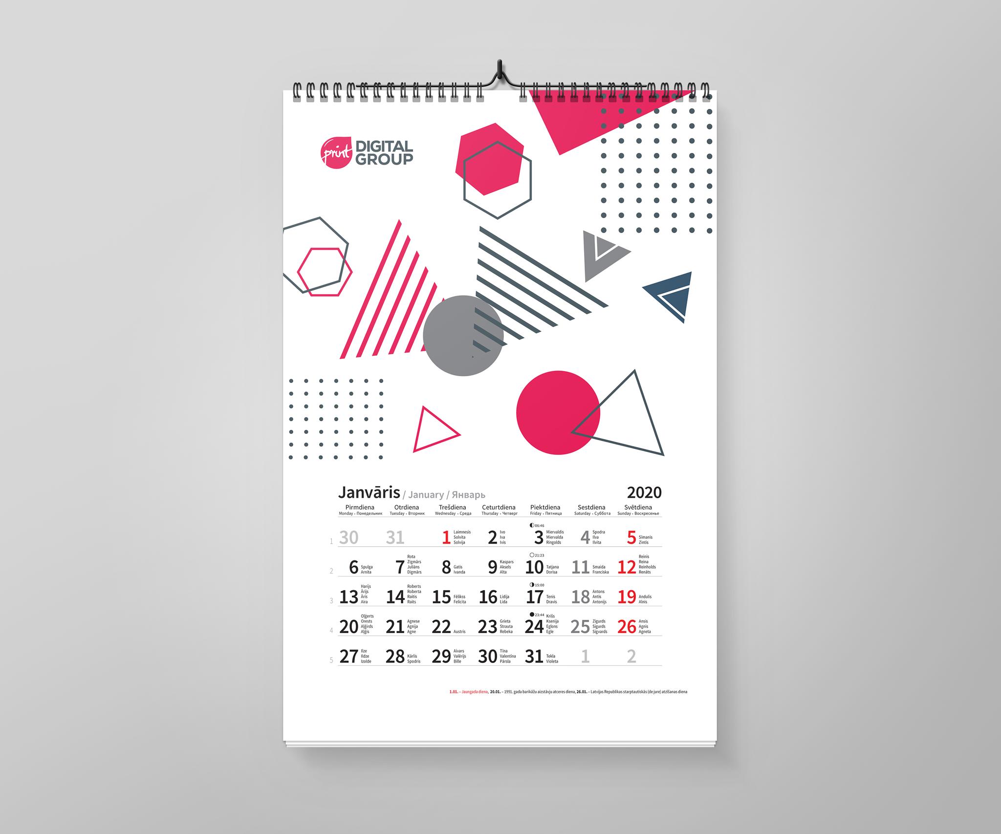 Sienas kalendāri sienas kalendāri Sienas kalendāri Kalendars 2020 A3 preview