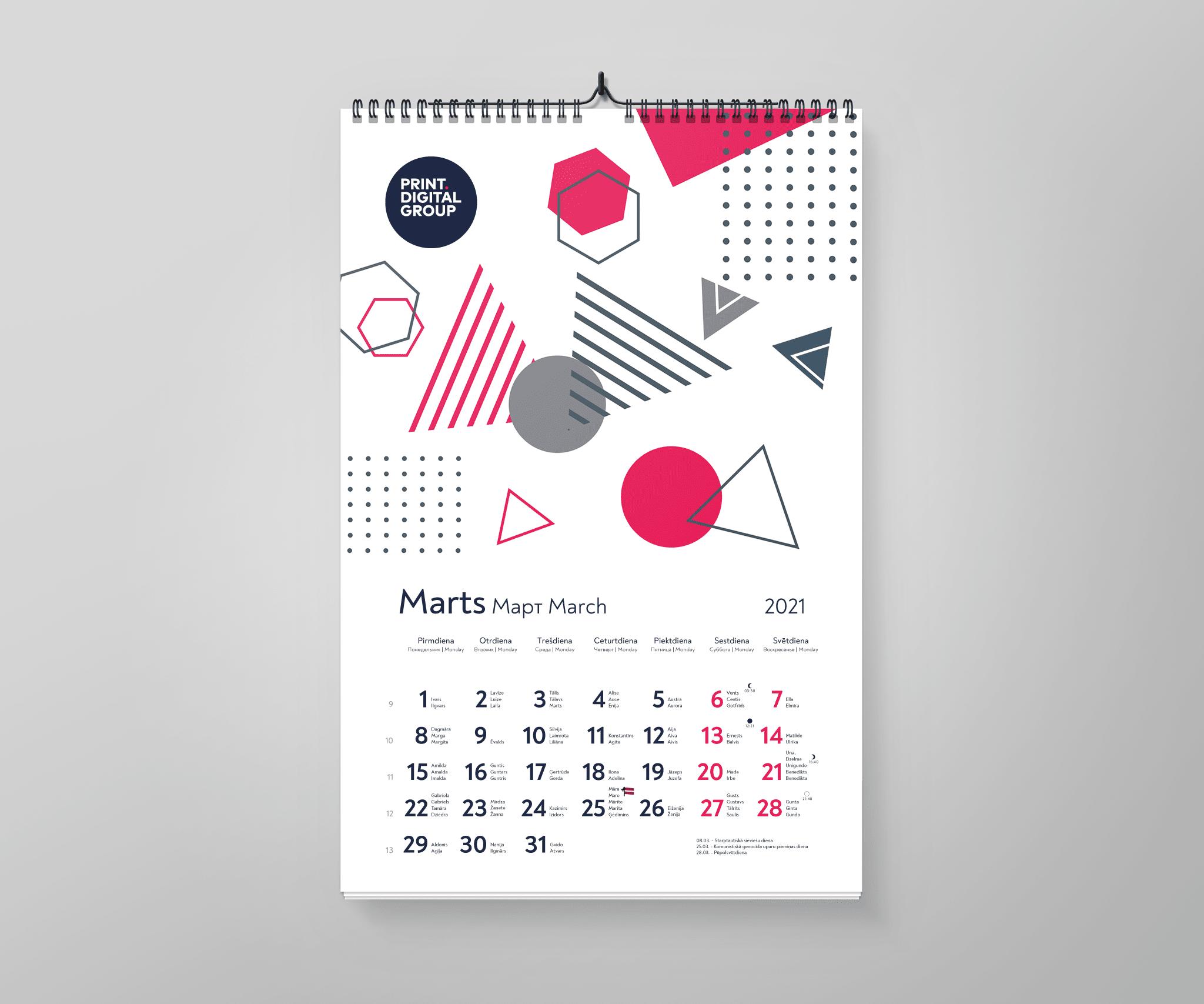 Sienas kalendāri sienas kalendāri Sienas kalendāri Kalendars 2021 A3 preview