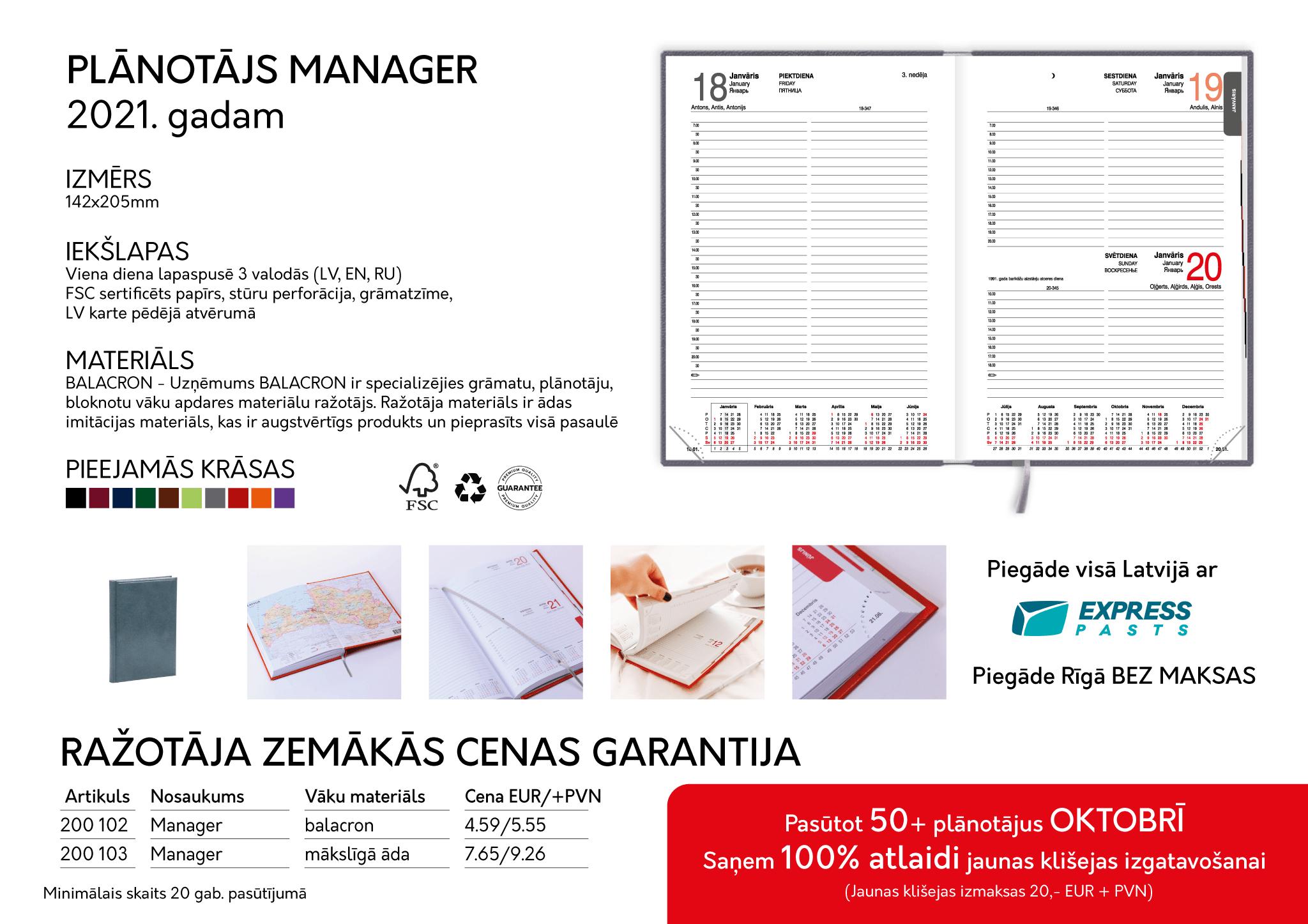 Plānotāji 2021  Plānotāji oktobrī izdevīgāk Manager piedavajums